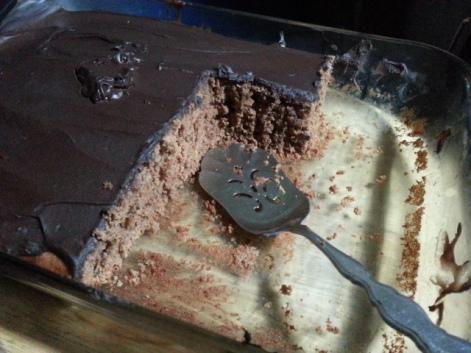 Sliced Chocolate Cake